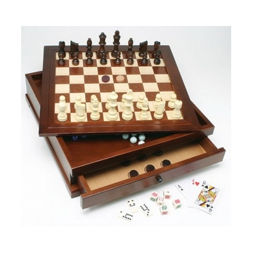 10 IN 1 WOOD COMBINATION GAME SET [Damaged]