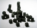 10 MM Wooden Cube Tokens (100 Pack) -Black