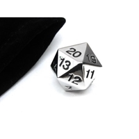 22mm Countdown D20 Metal: Black