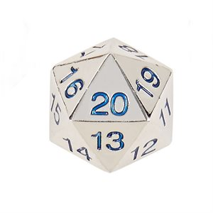 22mm Countdown D20 Metal: Blue