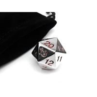 22mm Countdown D20 Metal: Red