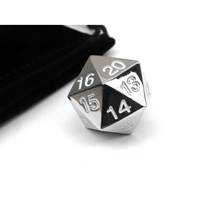 22mm Countdown D20 Metal: White