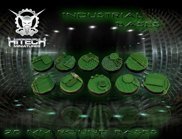 HiTech Miniatures: Industrial Bases 25mm