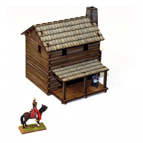4Ground Miniatures: 28mm American Legends: New England Loft Cabin