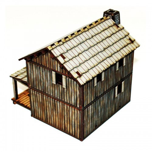 4Ground Miniatures: 28mm American Legends: New France Loft Cabin