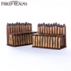 "4Ground Miniatures: 28mm Fabled Realms: 3"" Palisade Walls (2)"