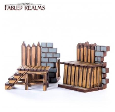 4Ground Miniatures: 28mm Fabled Realms: Ruined Wall Palisade Connector