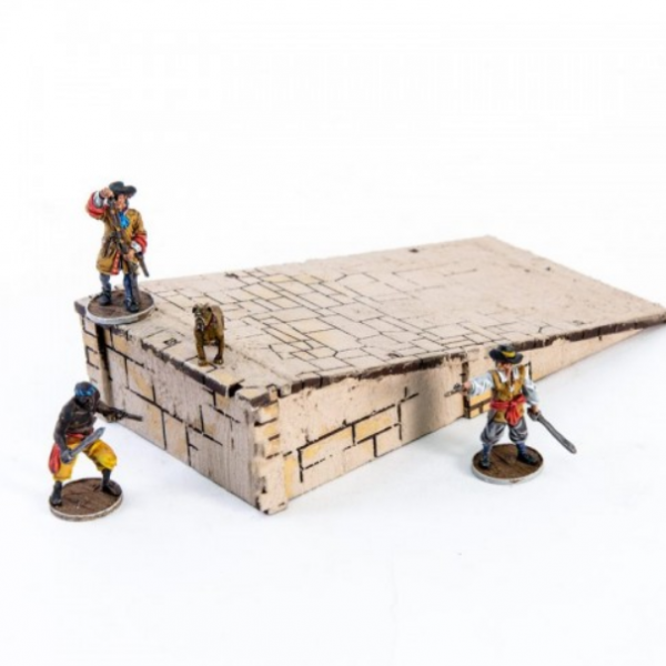 4Ground Miniatures: 28mm Ports Of Plunder: Dock Ramp