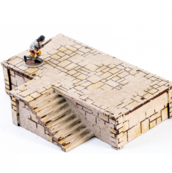 4Ground Miniatures: 28mm Ports Of Plunder: Short Dock with Stairs #1