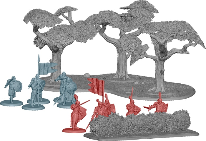 A Song of Ice & Fire: Woodland Terrain Set