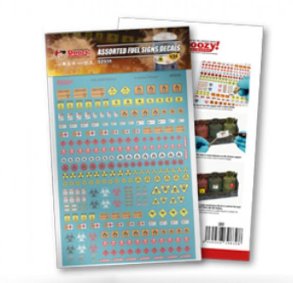 AK-Interactive: Assorted Fuel Signs Decals (1/24 scale)
