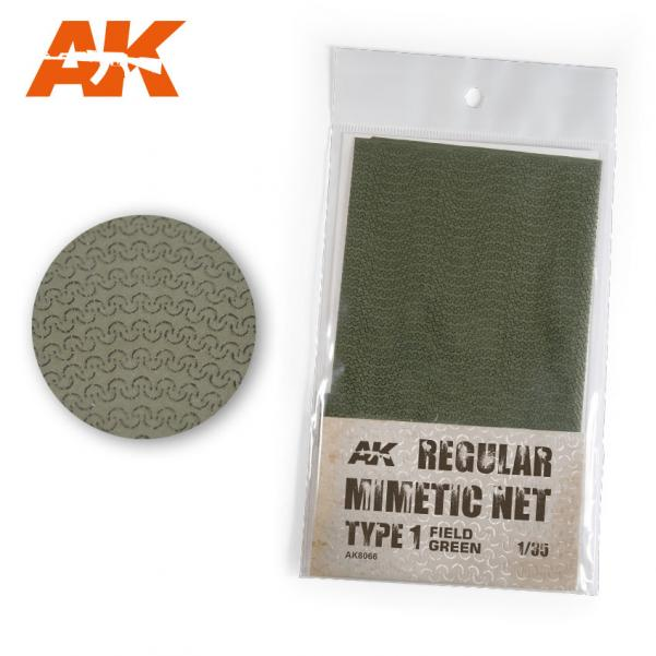 AK-Interactive: Camouflage Mimetic Net type 1 - Field Green