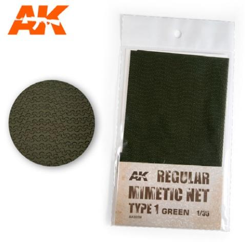 AK-Interactive: Camouflage Mimetic Net type 1 - Green