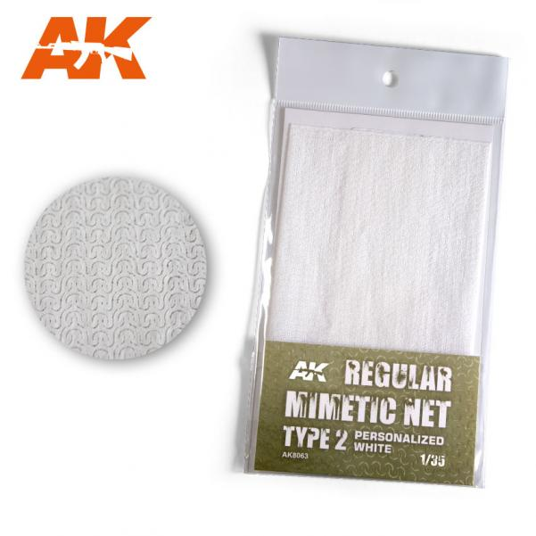 AK-Interactive: Camouflage Mimetic Net type 2 - Personalized White