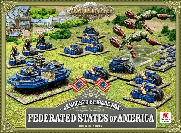 Dystopian Wars: Federated States Of America: Armoured Brigade Box