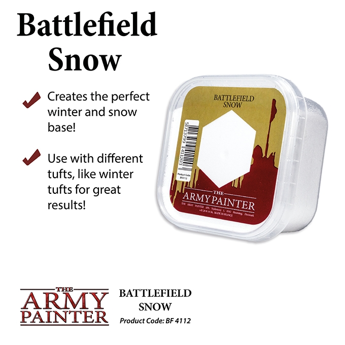 Army Painter: Battlefield: Snow [DAMAGED]