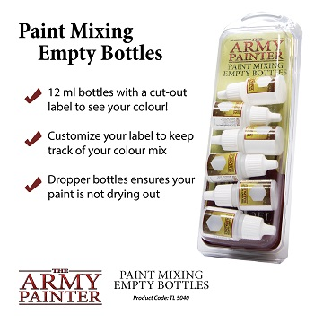 Army Painter: Empty Mixing Bottles