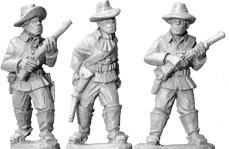 Artizan Designs Wild West: Buffalo Soldiers with Carbines (Foot)