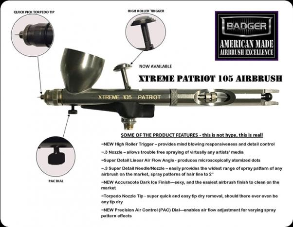 Badger: Xtreme Patriot 105 Airbrush