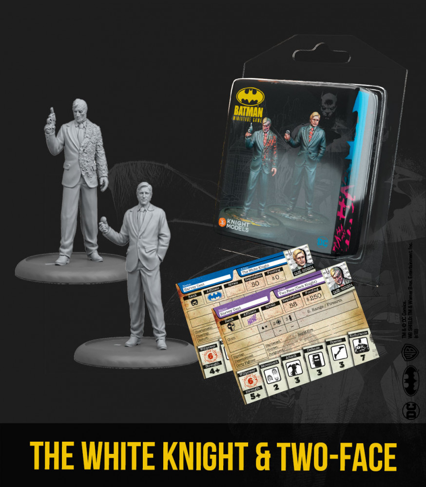 Batman Miniatures Game 2nd Edition: The White Knight & Two Face