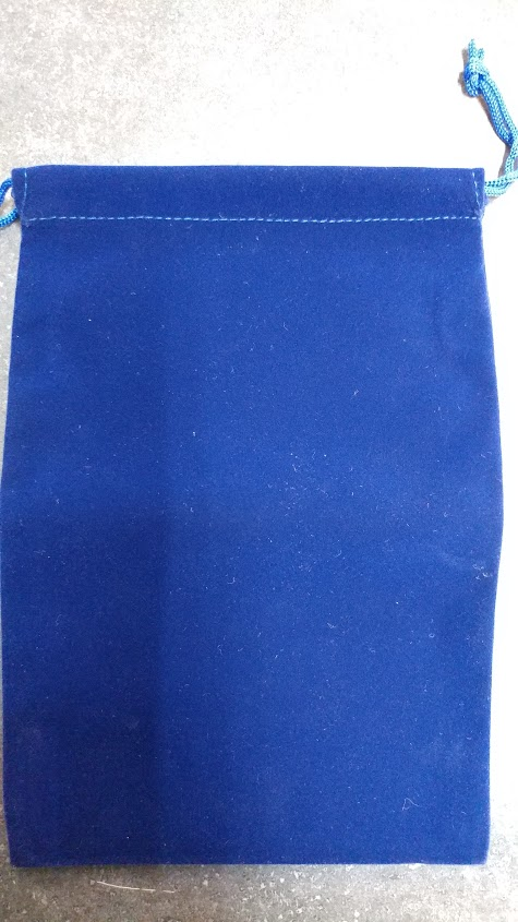 Blue Suede Dice Bag 6x9