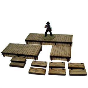 4Ground Miniatures: 28mm Dead Mans Hand: Add-ons: Boardwalks