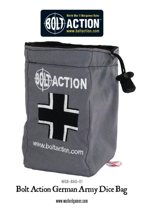 Bolt Action: German Army Dice Bag & Order Dice (Grey)