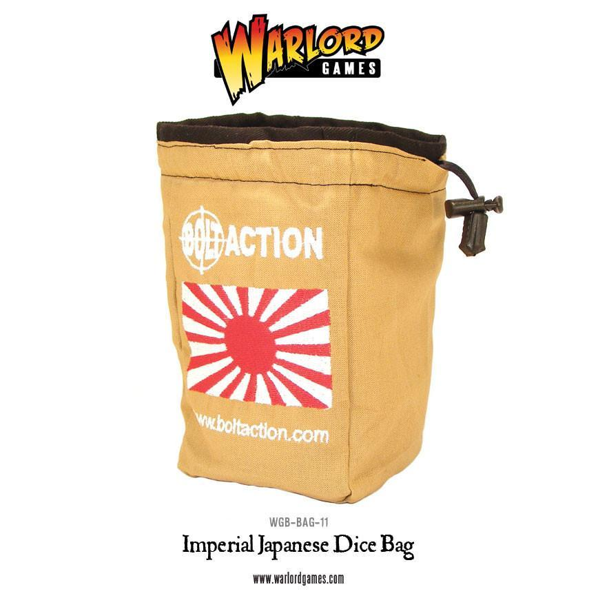 Bolt Action: Imperial Japanese Dice Bag & Order Dice (White)