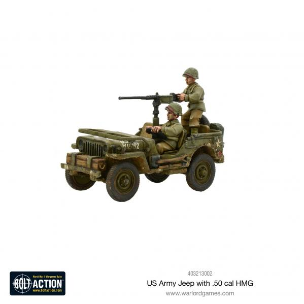 Bolt Action: USA: US Army Jeep with 50 Cal HMG