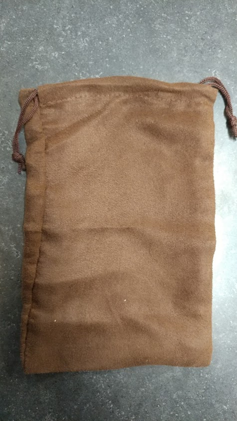 Brown Suede Dice Bag 6x9