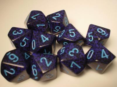 Chessex (25107): D10: Speckled: Cobalt