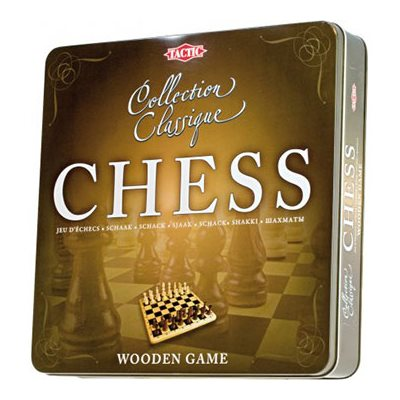 Chess Wooden Tin Box [Damaged]