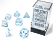 Chessex (27581): Borealis 7-Die Icicle/Light Blue with Luminary - CHX27581 [601982031404]