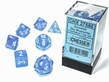 Chessex (27586): Borealis 7-Die Sky Blue/White with Luminary - CHX27586 [601982031442]