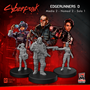 Cyberpunk Red Miniatures: Edgerunners Set D (Media/Nomad/Solo) -  MFC33004 [8500097532054]