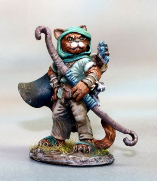 Dark Sword Miniatures: Critter Kingdoms- Cat Ranger with Bow