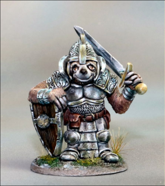 Dark Sword Miniatures: Critter Kingdoms- Sloth Paladin with Sword & Shield