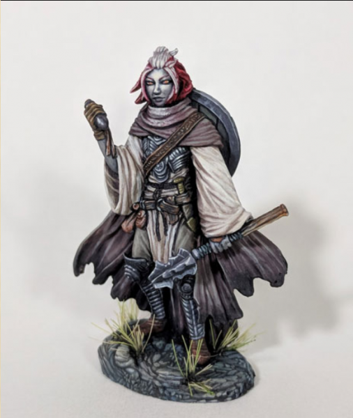 Dark Sword Miniatures: Visions in Fantasy: Female Cleric with Mace