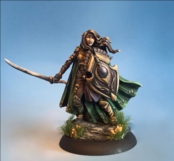 Dark Sword Miniatures: Visions in Fantasy: Female Elven Warrior with 2 Weapon Options