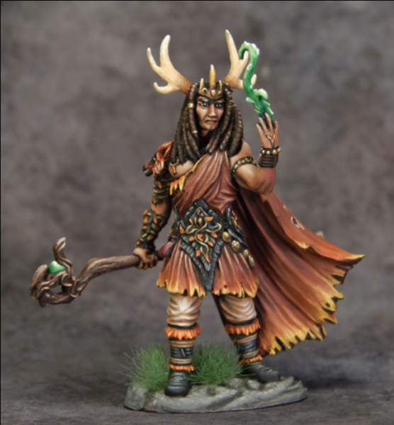Dark Sword Miniatures: Visions in Fantasy: Male Druid with Staff