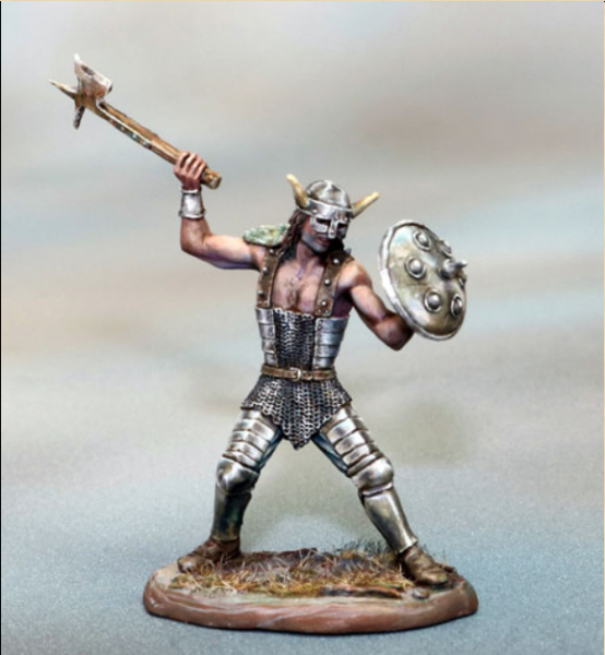 Dark Sword Miniatures: Visions in Fantasy: Male Warrior with Axe and Shield