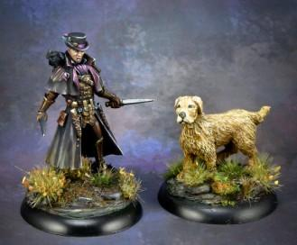Dark Sword Miniatures: Visions in Fantasy: Michael the Crow Rogue and Kya