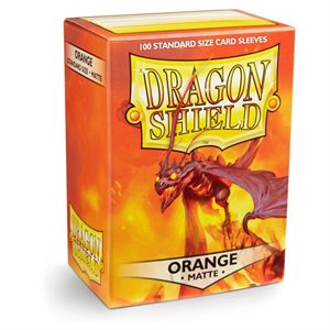 Dragon Shields: Matte Card Sleeves (100): Orange