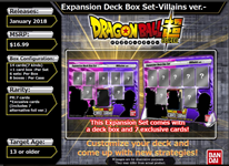 DragonBall Super: Deck Box Villians