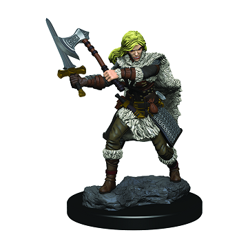 Dungeons & Dragons Premium Figures: HUMAN FEMALE BARBARIAN