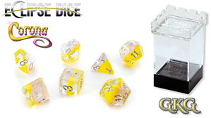 Eclipse Dice: 7 Piece Set - CORONA