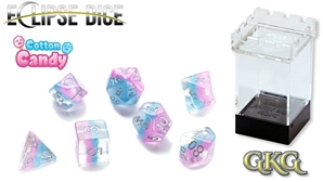Eclipse Dice: 7 Piece Set - COTTON CANDY