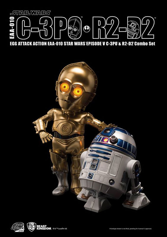 Egg Attack Action #010: Star Wars- C-3PO & R2-D2 Combo Set