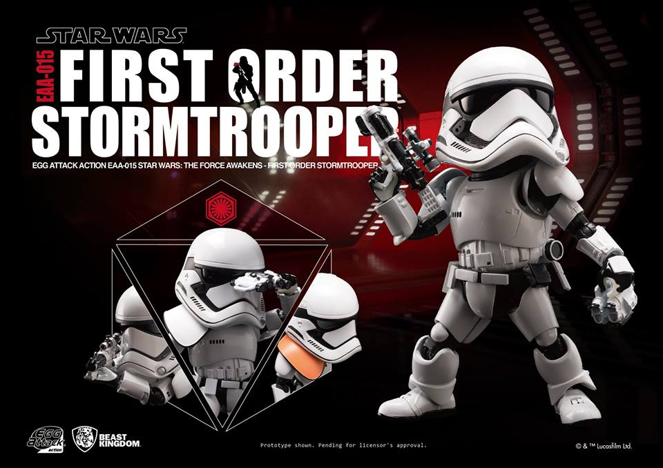 Egg Attack Action #015: Star Wars The Force Awakens- First Order Stormtrooper