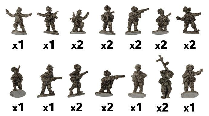 Flames of War: Italian: Rifle Platoon (Bersaglieri)